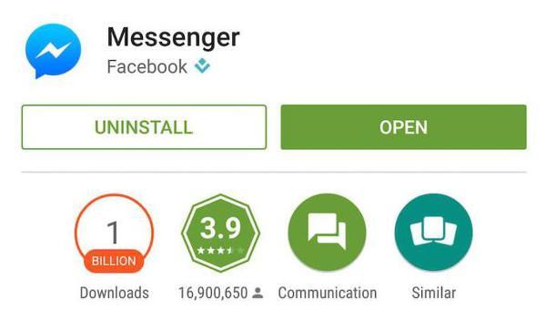 Android için Facebook Messenger 1 milyar indirme rakamını geçti