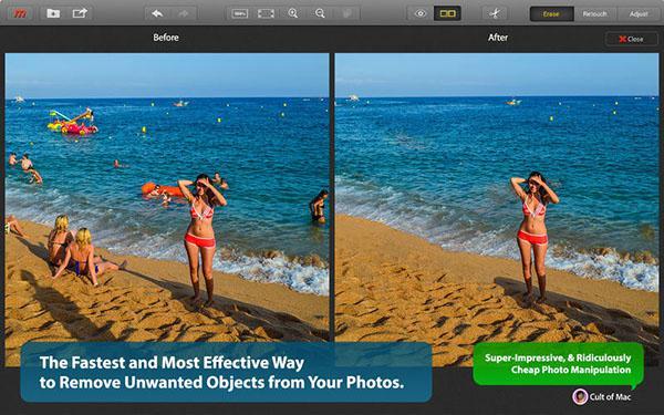Mac özel fotoğraf düzenleme uygulaması Snapheal indirime girdi