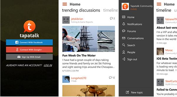 Windows Phone markette yeni Tapatalk uygulaması keşfedildi