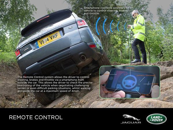 Land Rover'ın geliştirdiği akıllı telefon uygulaması, oyun benzeri kontrol getiriyor