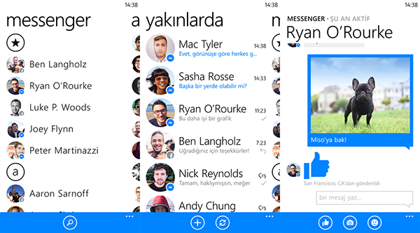 Windows Phone için Facebook Messenger güncellendi
