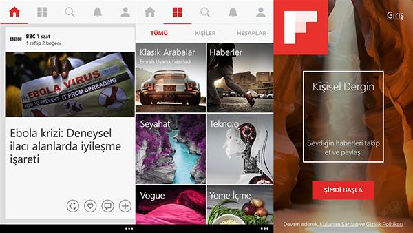 Windows Phone için Flipboard güncellendi