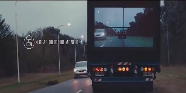 Samsung, yol güvenliği için tırlara ekran entegre ediyor