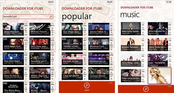 Windows Phone için Downloader for iTube artık ücretsiz