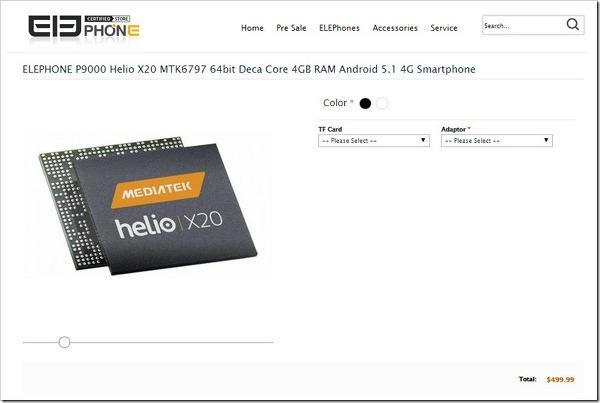 Elephone P9000 ilk Helio X20 taşıyan akıllı telefon olabilir