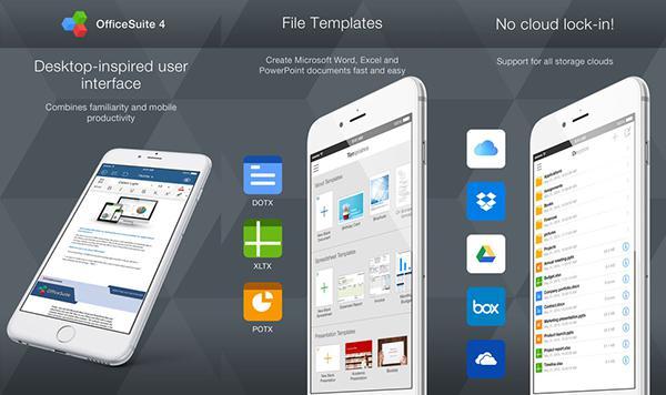 iOS uyumlu OfficeSuite Pro ücretsiz yapıldı