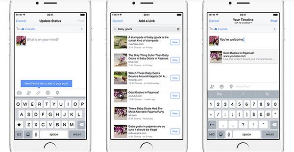iOS için Facebook, bağlantı bulmayı kolaylaştırıyor