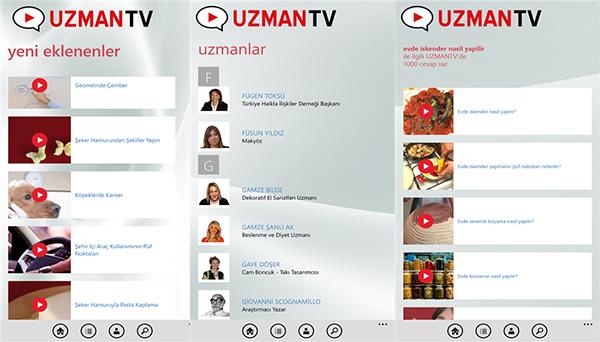 Uzman Tv'nin Windows Phone uygulaması kullanıma sunuldu