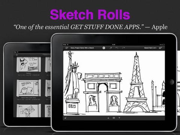 iPad için hazırlanan uygulamalardan Sketch Rolls artık ücretsiz