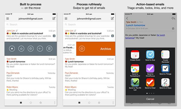 iOS uyumlu e-posta istemcisi Dispatch, indirime girdi