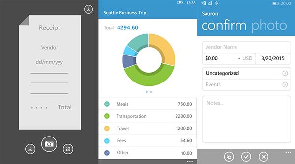 Windows Phone platformuna yeni bir uygulama: Receipt Tracker