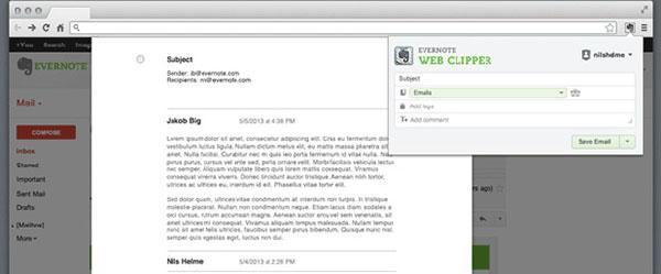 Evernote'un Web Clipper eklentisi yeni özellikler kazandı