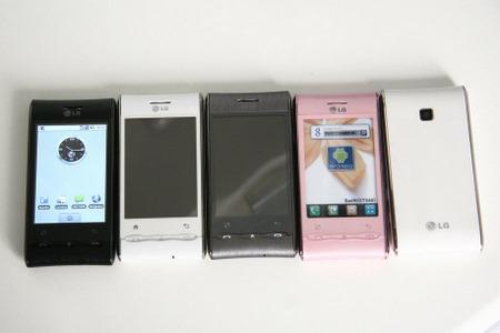 Android işletim sistemli LG GT540'ın yeni renk seçenekleri gün yüzüne çıktı