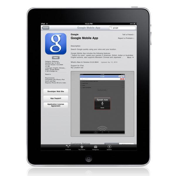 Google Mobile'ın iPad sürümü onaylandı ve kullanıma sunuldu