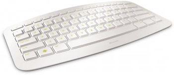 Microsoft'tan sade ve ergonomik tasarımlı klavye: Microsoft Arc beyaz