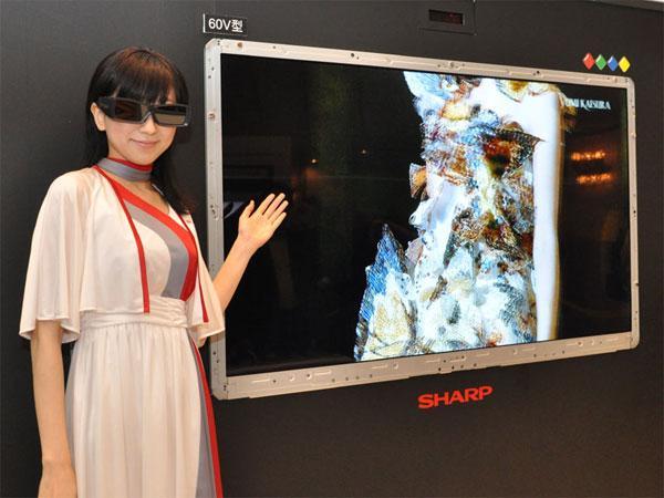 Sharp, Dünya'nın ilk 4 renk filtreli 3D LCD TV'sini duyurdu