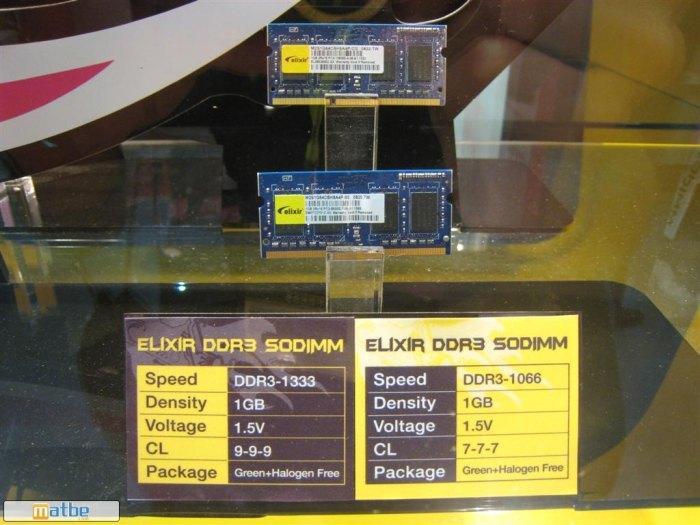 Computex 2008: Elixir yeni DDR3 SO-DIMM belleklerini tanıttı