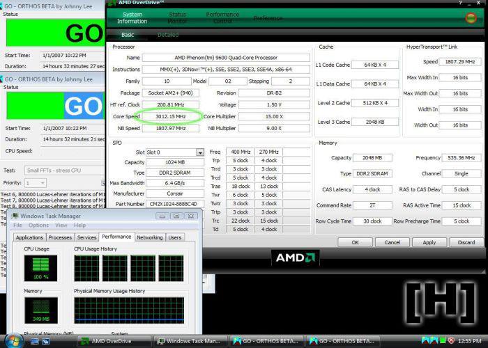 AMD Phenom 9600 Black Edition ile ilk ciddi OC deneyimleri