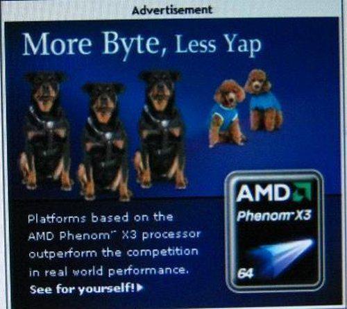 AMD'den rakibi Intel'e üç çekirdekli gönderme