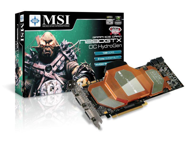 MSI'dan su soğutmalı GeForce GTX 280 OC HydroGen