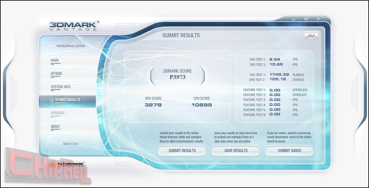 3DMark Vantage; Radeon HD 3850 vs. GeForce 9600GT