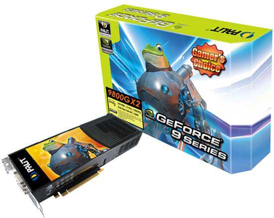Palit GeForce 9800GX2 modelini duyurdu