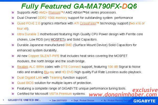 DH Özel: Gigabyte 790FX-DQ6 detayları ile mercek altında