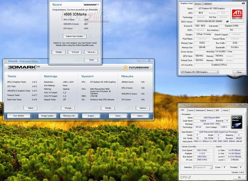 Gigabyte 790GX'in Hybrid Crossfire sonucu ortaya çıktı