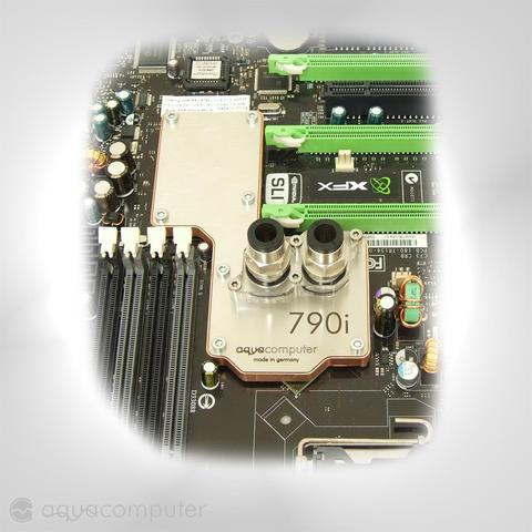 Aqua Computer'dan nForce 790i için su soğutma bloğu
