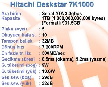 Hitachi Deskstar 1TB disk 7K1000 video incelemesi