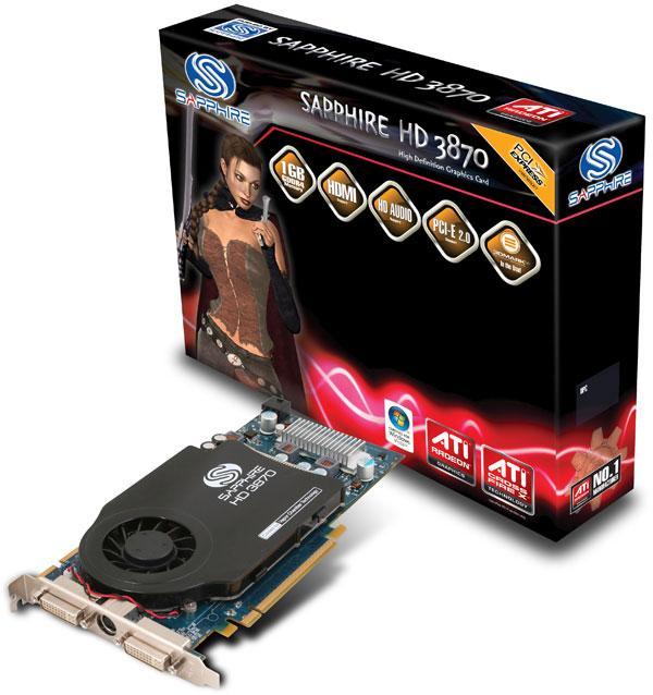 Sapphire'den 1GB GDDR4 bellekli yeni Radeon HD 3870