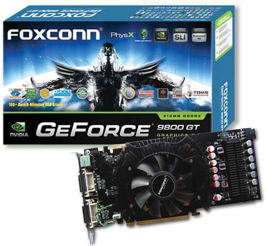 Foxconn'un GeForce 9800GT modeli tasarımıyla dikkat çekiyor