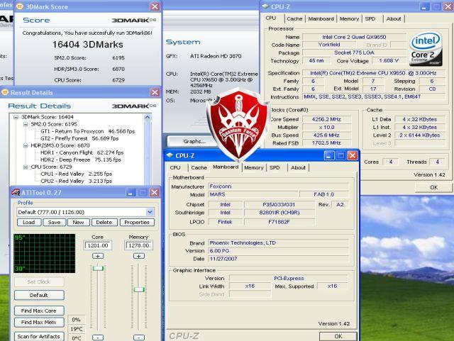 ATi HD 3870 ile OC çılgınlığı: 1201/2556MHz
