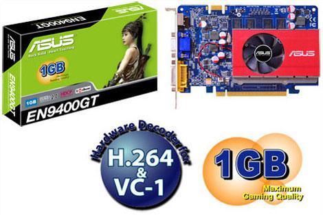 Asus 1GB bellekli GeForce 9400GT modelini duyurdu
