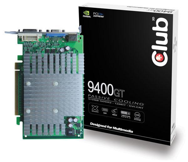 Club3D pasif soğutmalı GeForce 9400GT modelini duyurdu