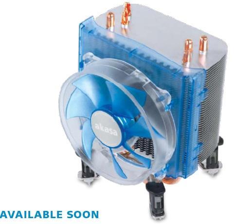Akasa'dan Intel işlemciler için Mavi LED'li yeni soğutucu