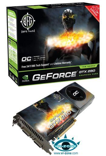 BFG saat hızları arttırılmış GeForce GTX 200 OC serisini duyurdu