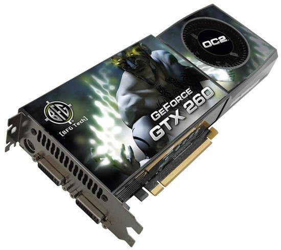 BFG'den fabrika çıkışı hız aşırtılmış iki yeni GeForce GTX 260