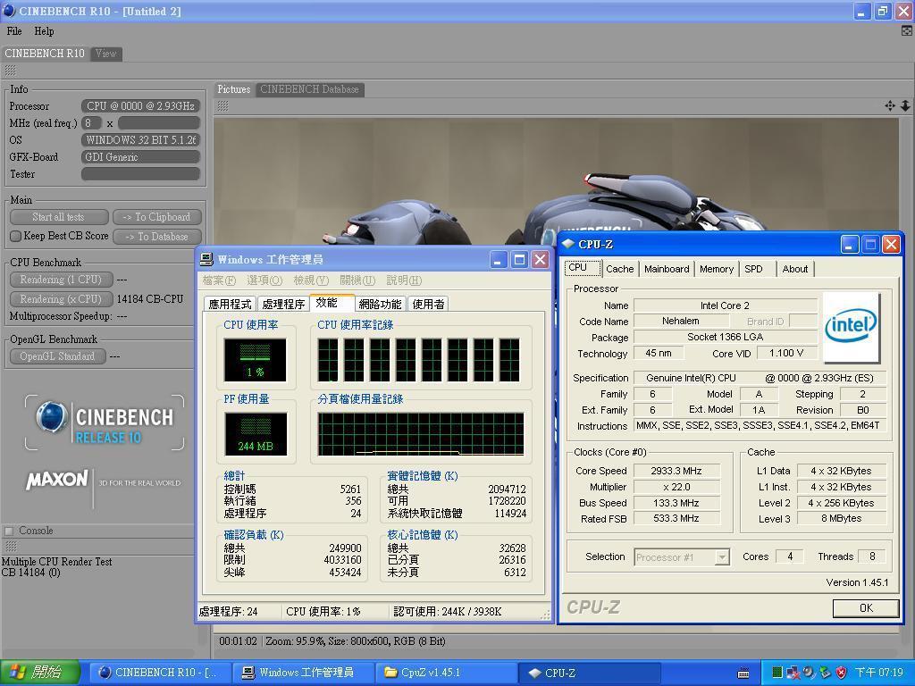 2.93GHz'de çalışan BO revizyonlu Nehalem için yeni test sonuçları