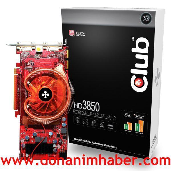 Club3D'den Radeon HD 3850 overclock edition