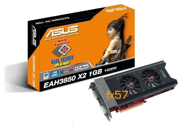 Asus Radeon HD 3850 X2 modelini resmen duyurdu