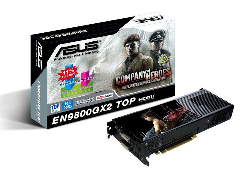 Asus'dan fabrika çıkışı hız aşırtılmış GeForce 9800GX2 TOP
