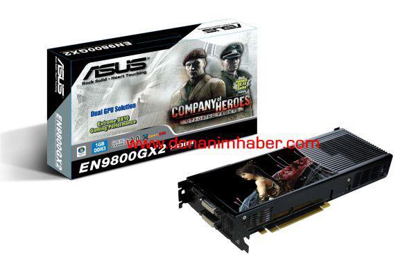 Asus'un GeForce 9800GX2 modeli hazır
