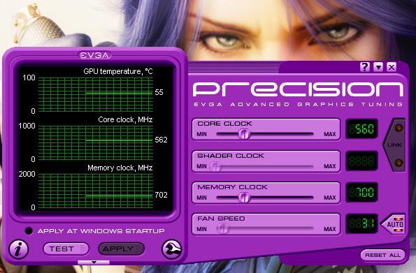EVGA Precision 1.1.0 kullanıma sunuldu