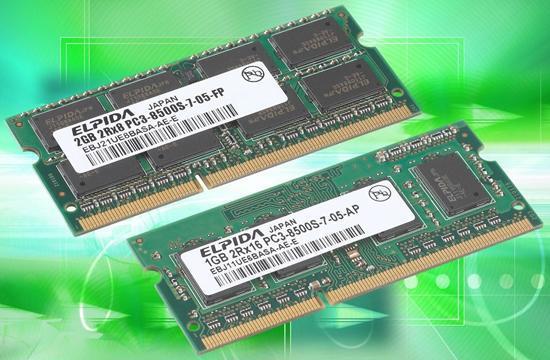Elpida'nın DDR3 SO-DIMM bellekleri Intel tarafından onaylandı