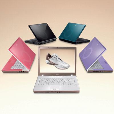 Fujitsu'dan canlı renkleriyle dikkat çeken Centrino 2 tabanlı yeni dizüstü