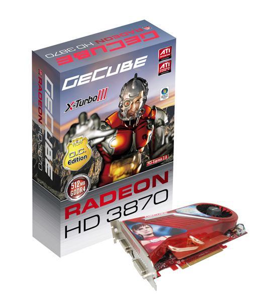 GeCube'den 2GB GDDR3 bellekli Radeon HD 3870
