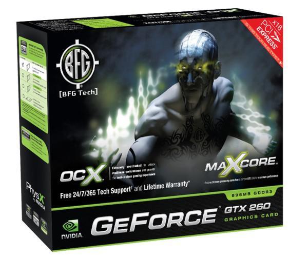 BFG GeForce GTX 260 OCX Maxcore modelini duyurdu