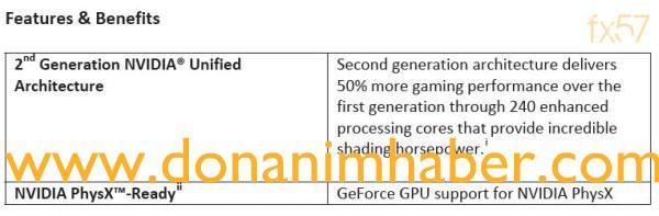 GeForce GTX 200 serisi ile ilgili resmiyet kazanan bazı yeni detaylar
