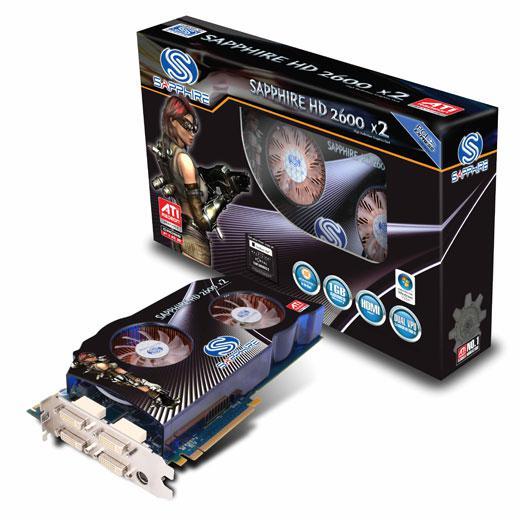 Sapphire'in çift GPU'lu Dual HD 2600 X2 detayları